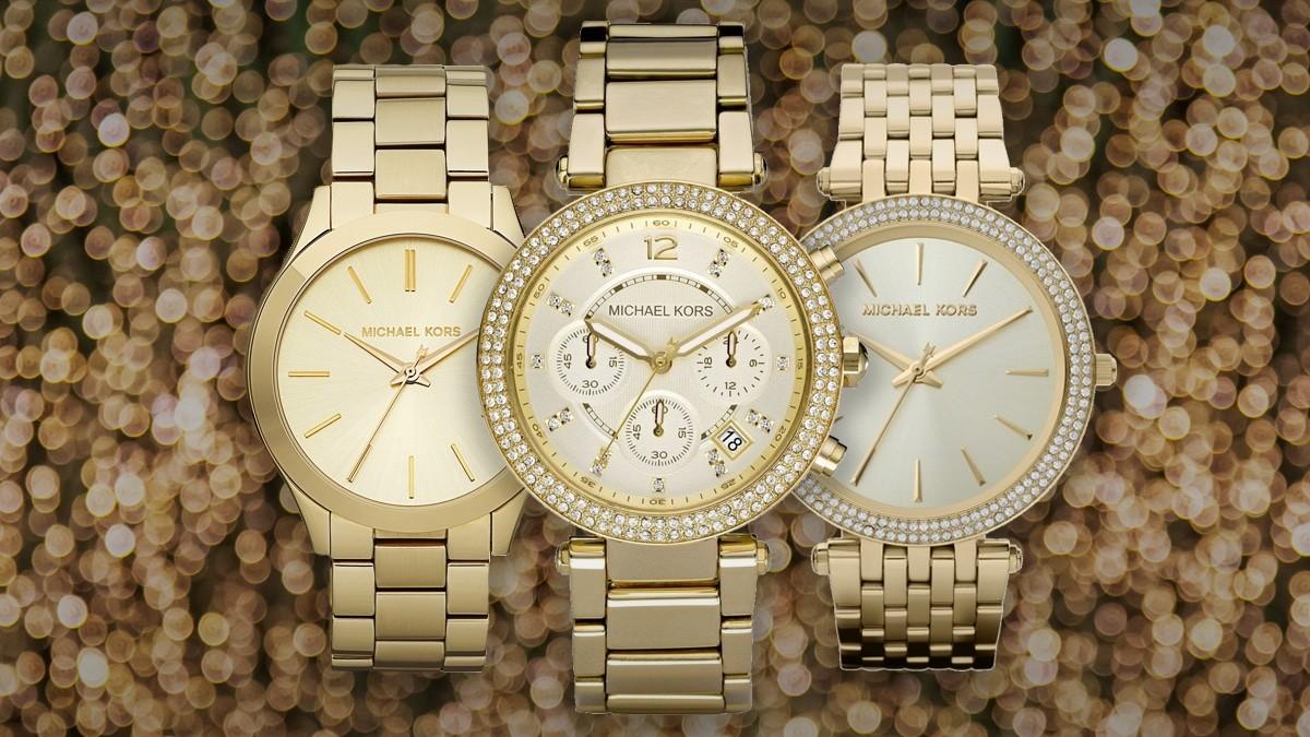 Cel mai frumos ceas auriu de damă Michael Kors