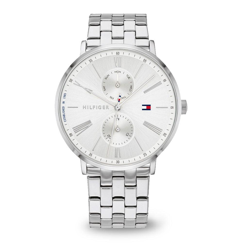 Strieborné módne hodinky Tommy Hilfiger