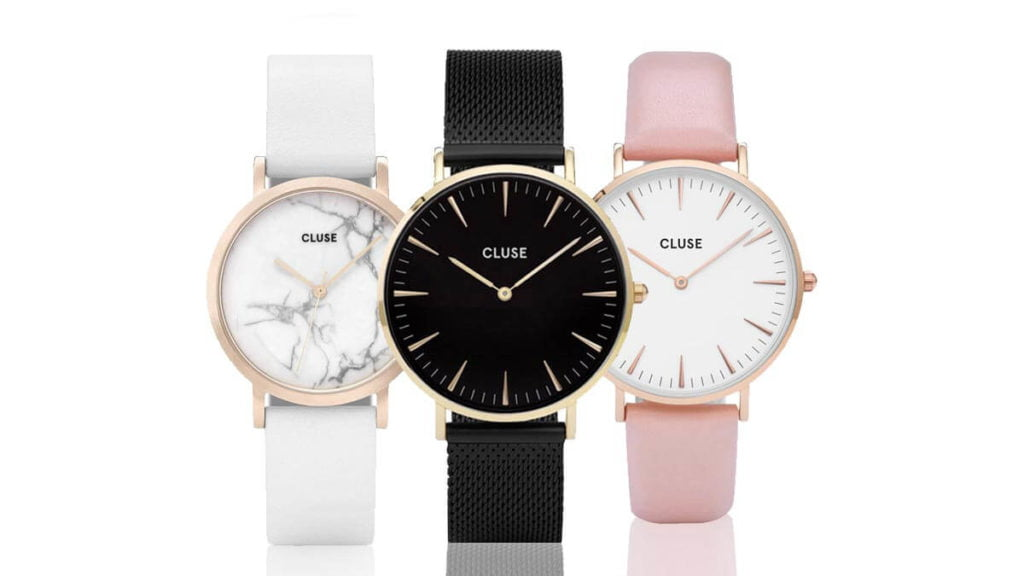 Ceasuri damă Cluse fine și minimaliste