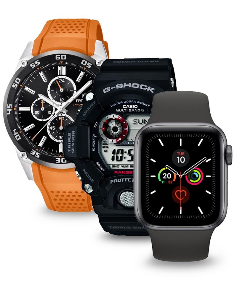Căutați ceasuri sport? Puteți alege între ceasuri Casio G-Shock durabile sau ceasuri inteligente de la Apple, Garmin, Suunto și multe altele.