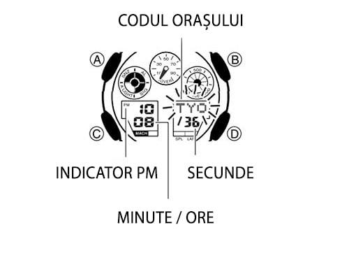 Casio G-Shock setarea orei