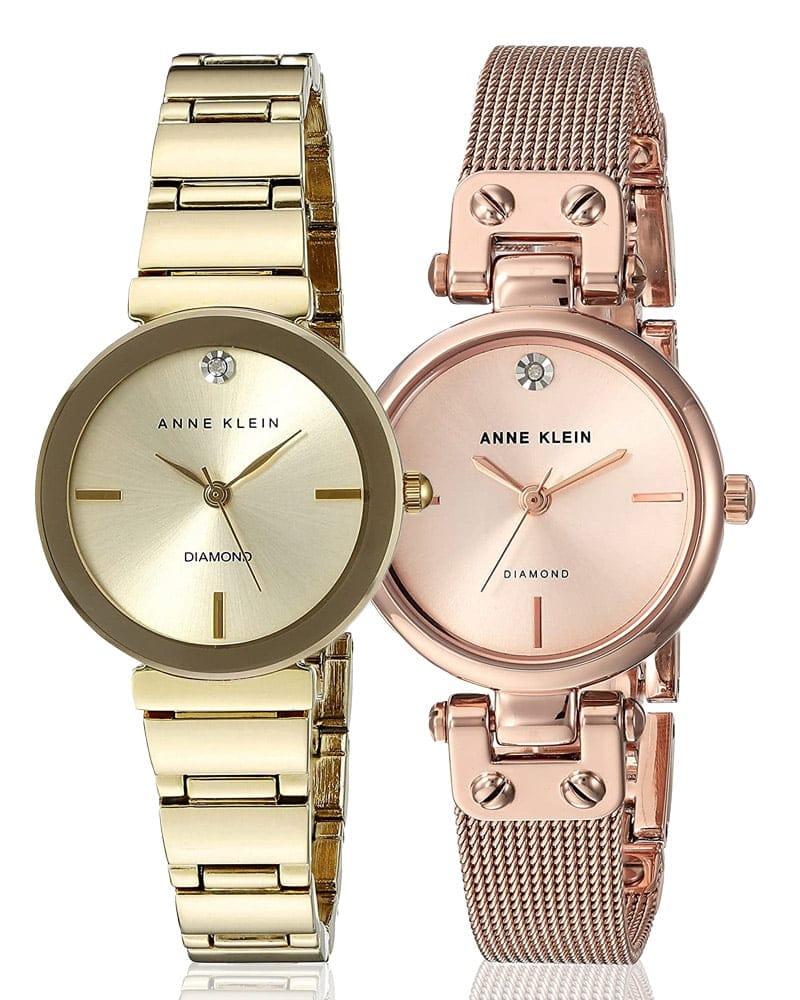 Ceasuri de damă Anne Klein în culoarea aurie și a aurului roze