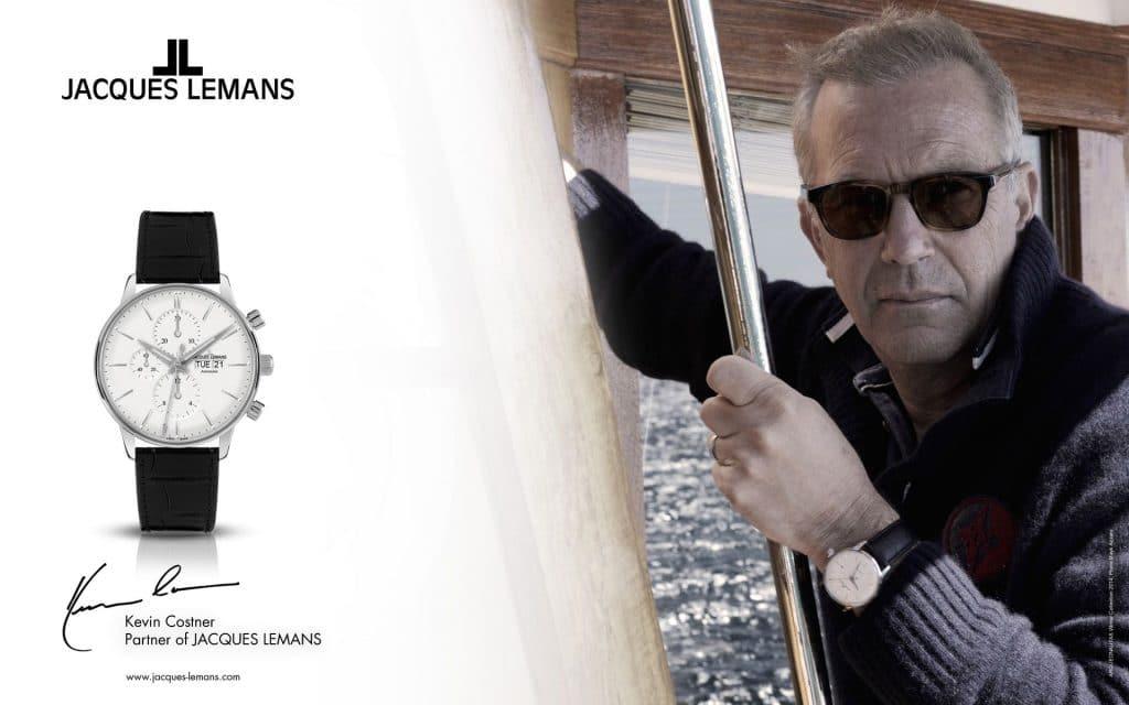Jacques Lemans și fosta imagine a mărcii – actorul Kevin Costner