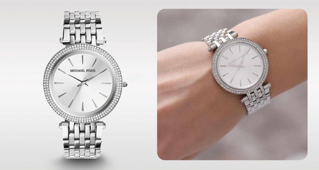 Ceasul argintiu atemporal pentru femei Michael Kors MK3190