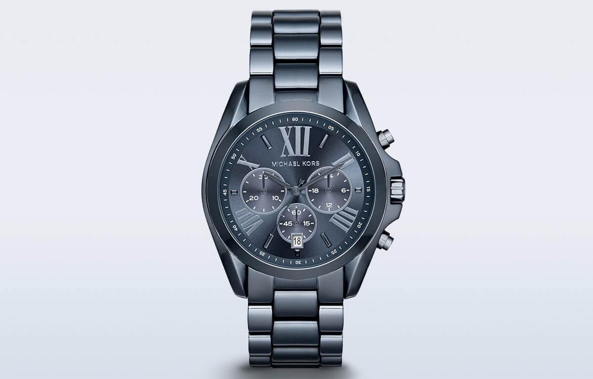 Ceasul pentru bărbați albastru închis Michael Kors