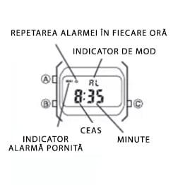 Modul de alarmă la ceasurile Casio Vintage