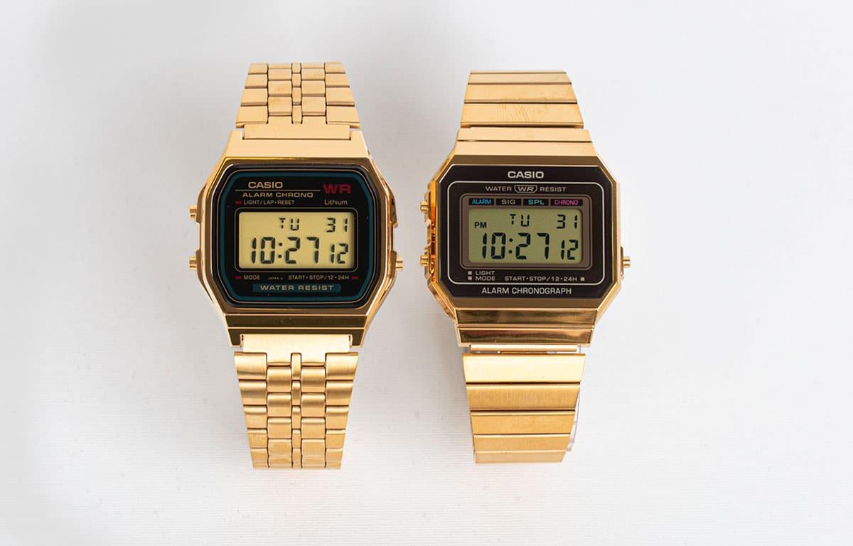 Ceasul Casio Vintagecu displei digital.