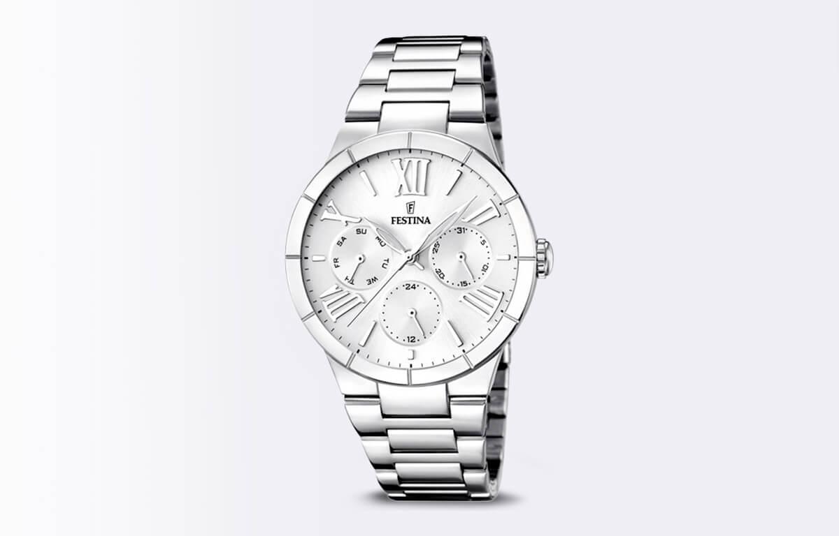 Ceasul argintiu Festina Mademoiselle