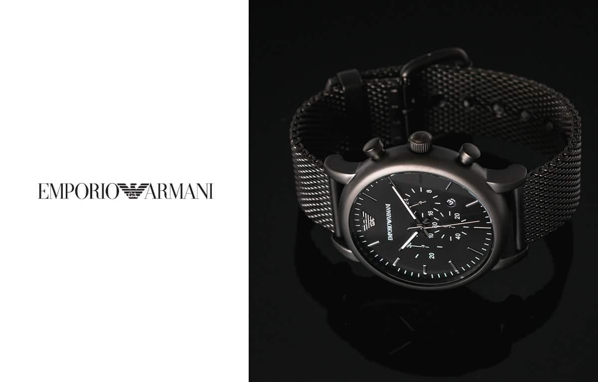 Ceasurile pentru bărbați Emporio Armani de culoare negru elegant