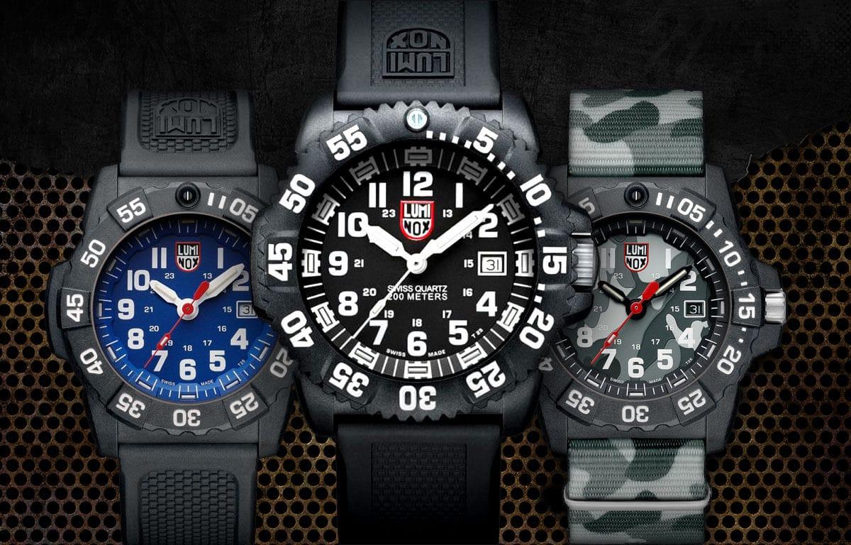 Ceasurile elvețiene Luminox cu un design tipic militar