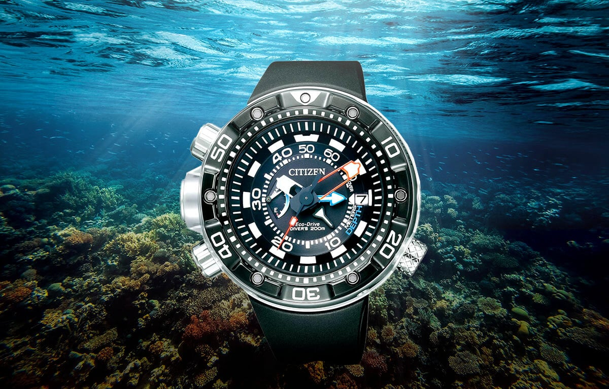 Ceasuri de scufundare Citizen BN2024-05E cu carcasă robustă