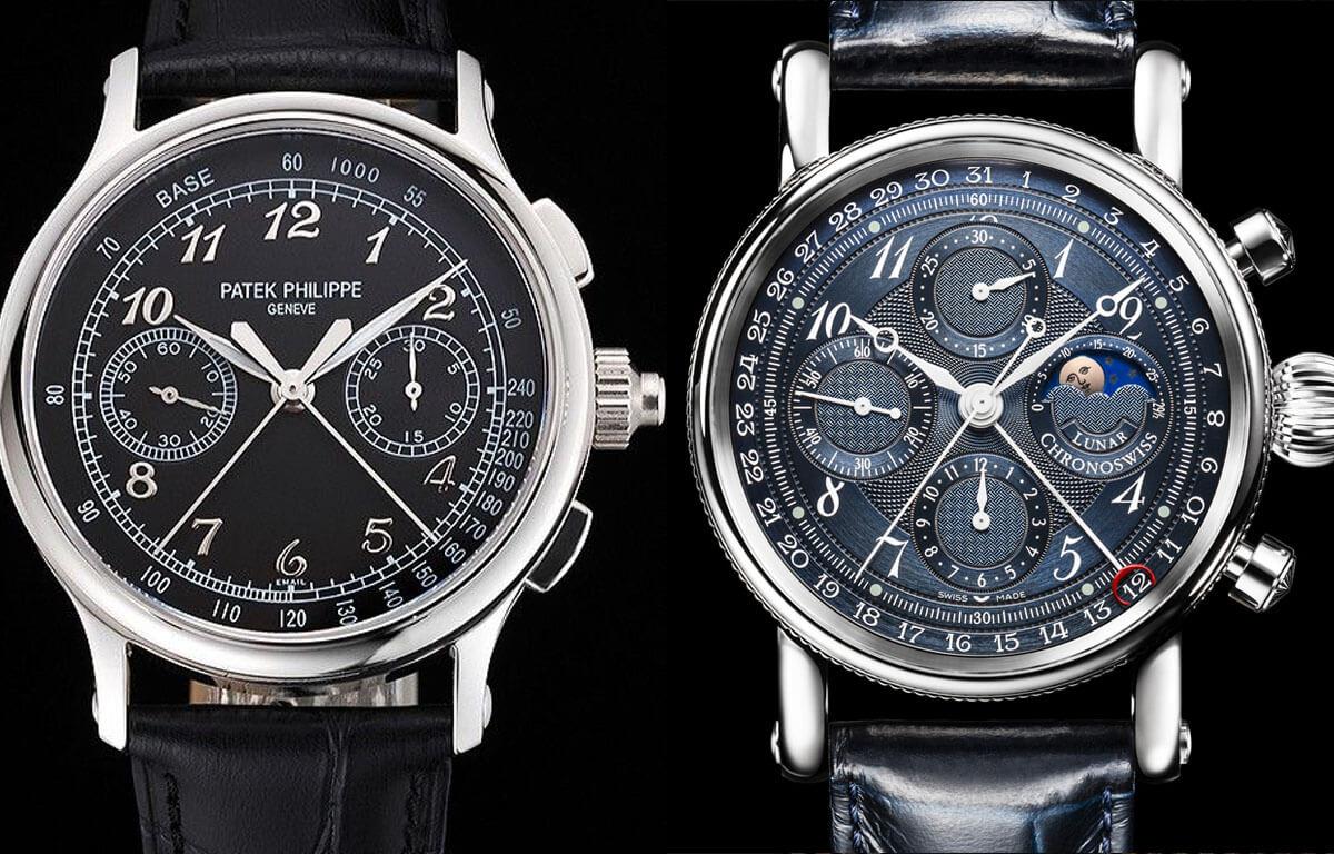 Numărul de cronografe poate varia individual la fiecare ceas în parte