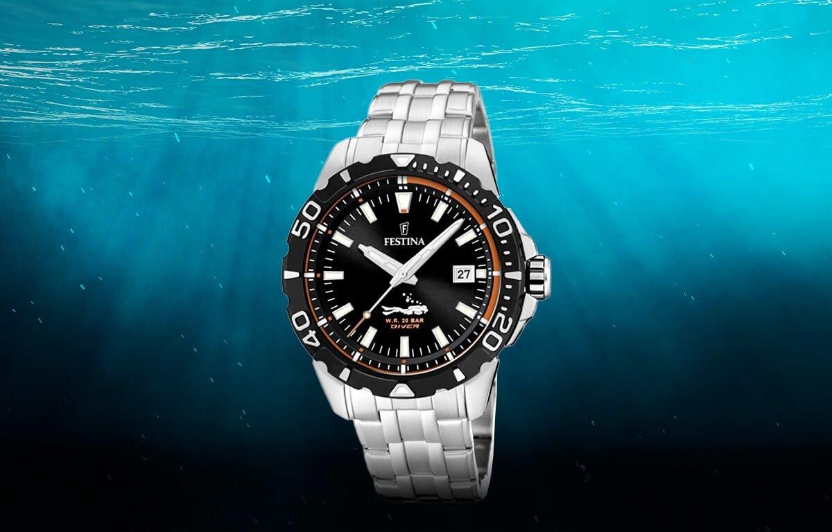 Ceasuri de scufundare ieftin pentru bărbați Festina The Originals Divers