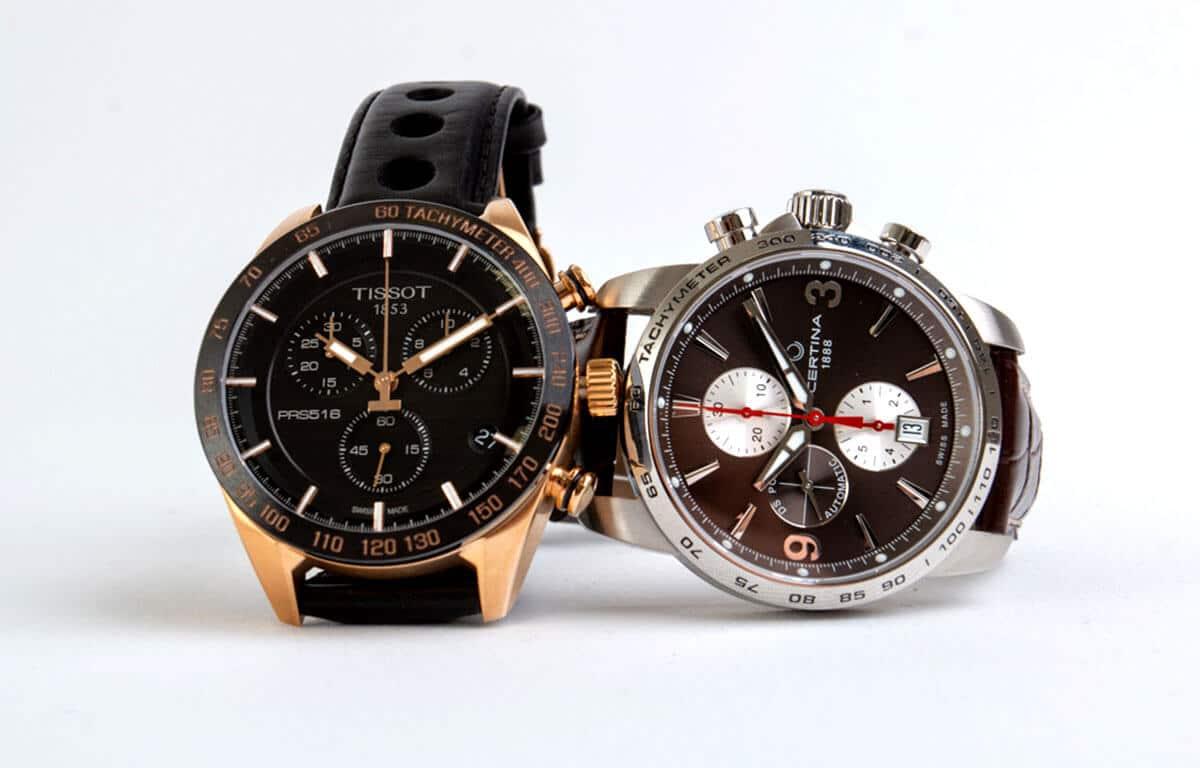 Alarmele cronograf pe ceasurile mărcilor Tissot și Certina
