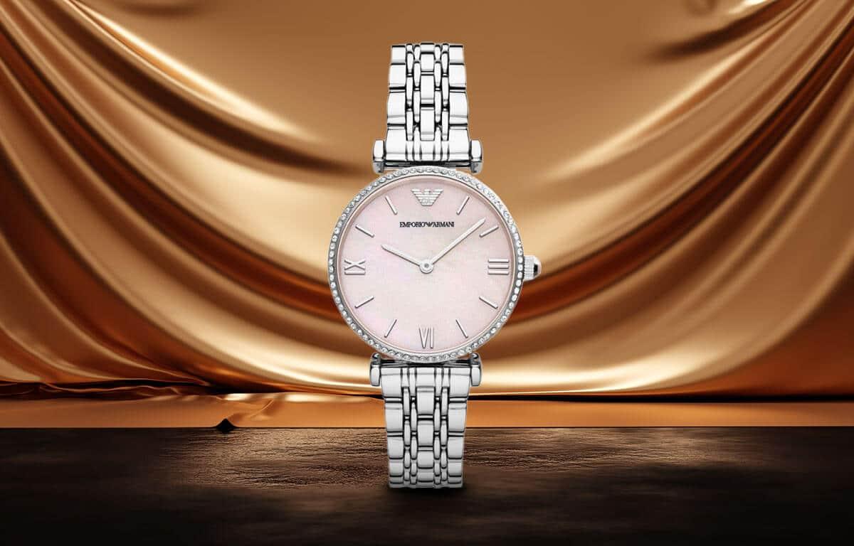 Ceasul de damă argintiu Emporio Armani