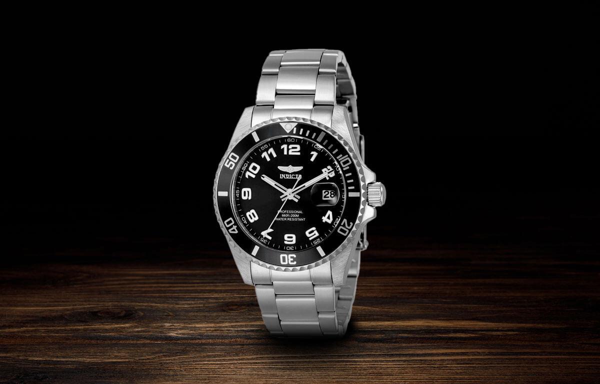 Ceasul argintiu de damă Invicta Pro Diver
