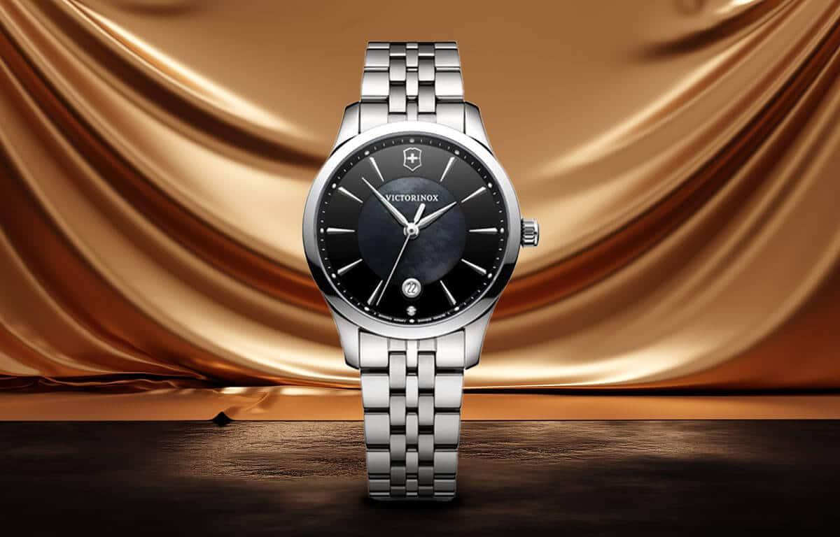 Ceas luxuriant de damă Victorinox cu cadran negru