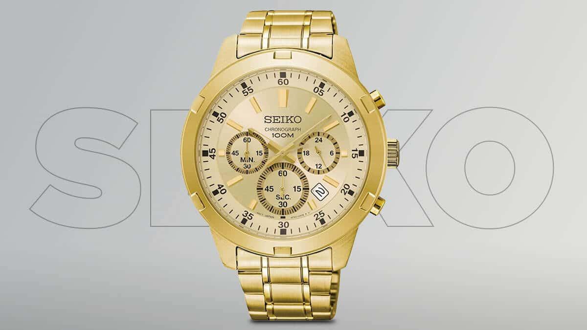 Ceas Seiko auriu pentru bărbați cu cronografe